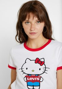 Levi's® - LEVI'S® X HELLO-KITTY  PERFECT RINGER TEE - T-shirts print - perfect white - 3
