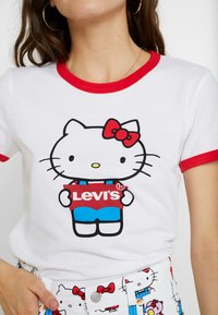 Levi's® - LEVI'S® X HELLO-KITTY  PERFECT RINGER TEE - T-shirts print - perfect white - 5