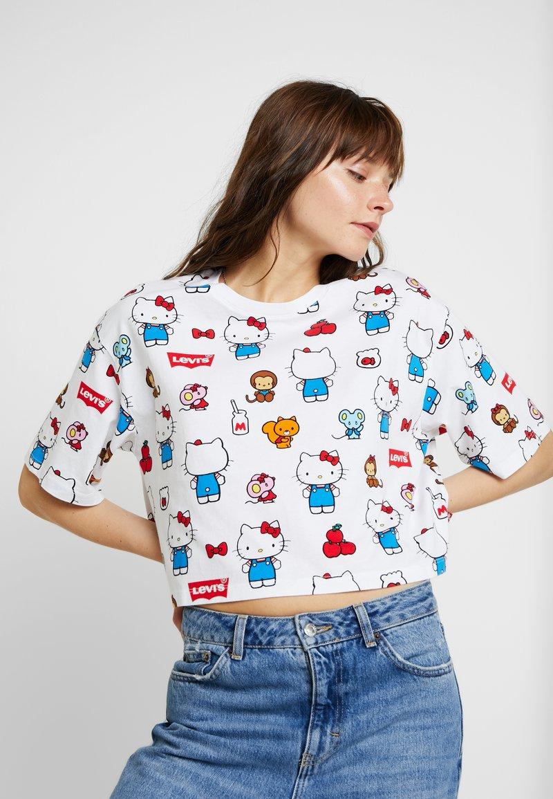 Levi's® - LEVI'S® X HELLO-KITTY GRAPHIC OVERSIZE TEE - T-Shirt print - white