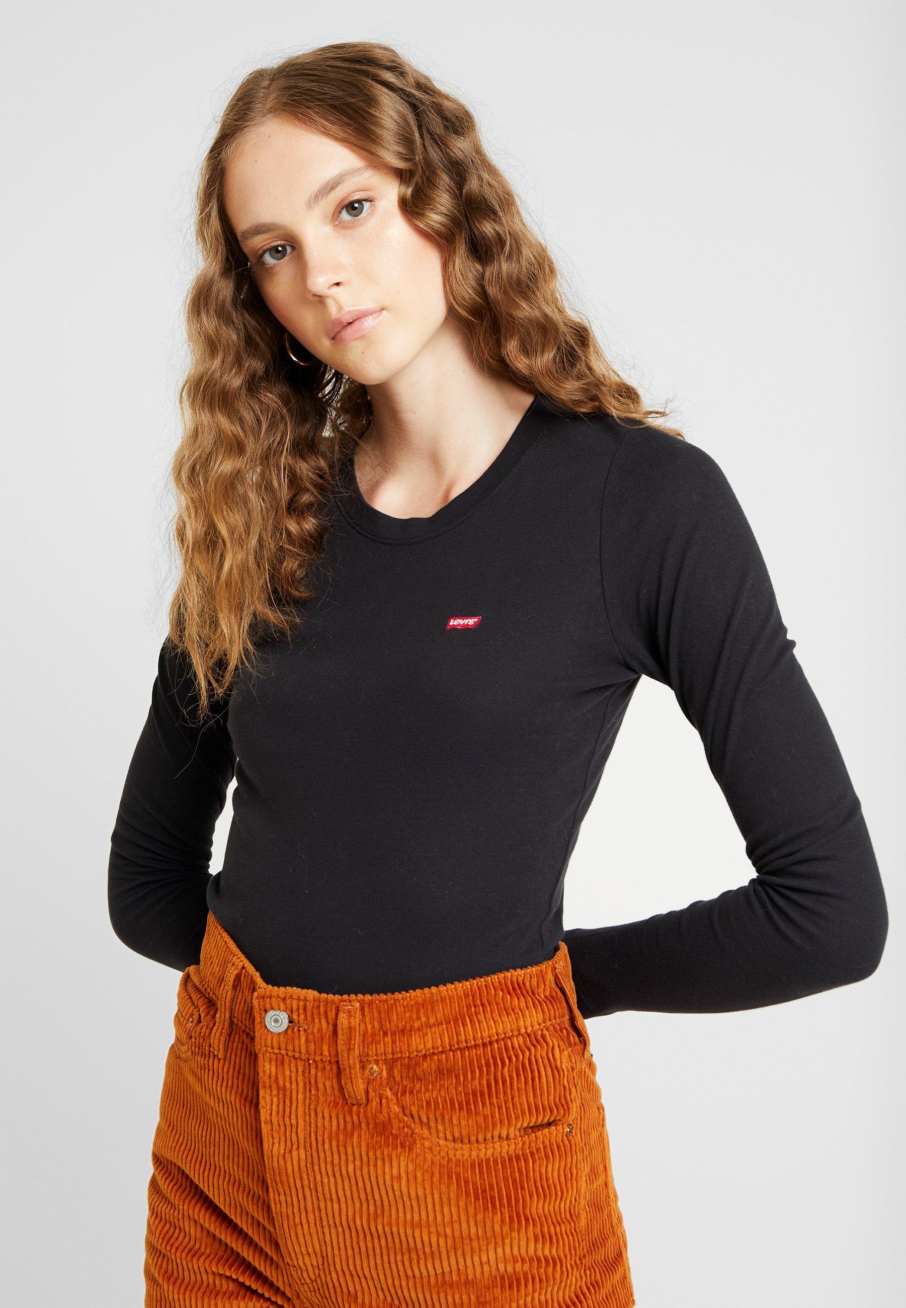 Levi's® BABY TEE - Bluzka z długim rękawem - black
