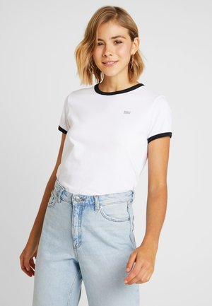 PERF NON GRAPHIC RINGER - Print T-shirt - white