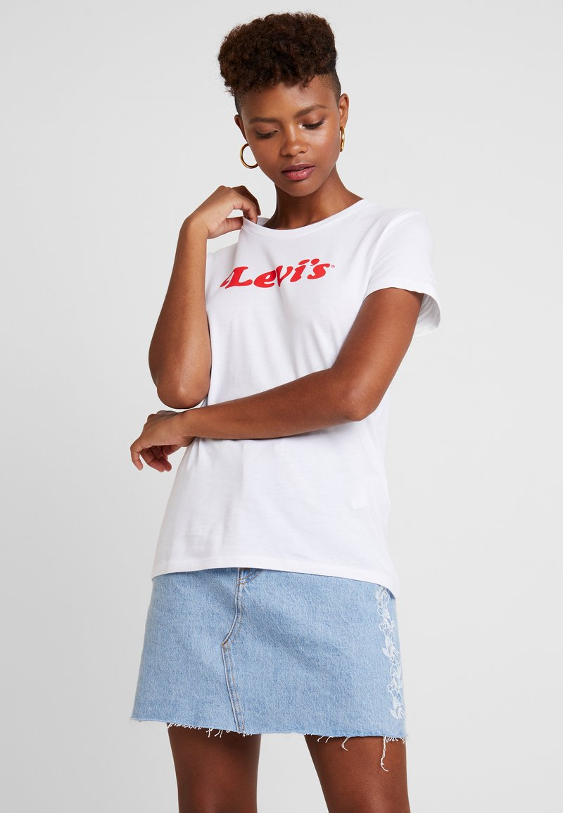 Levi's® - THE PERFECT TEE FEMININE LOGO GRAP - Print T-shirt - white