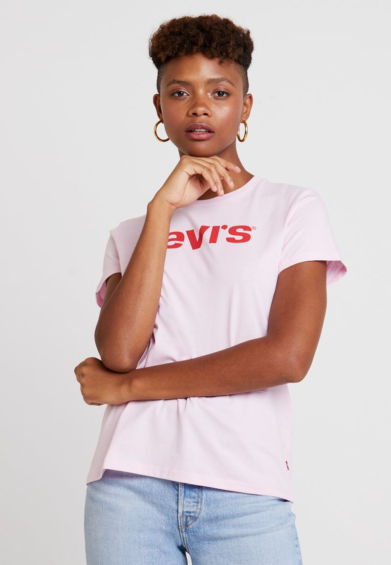 Levi's® - THE PERFECT TEE TEXT  - Triko s potiskem - pink