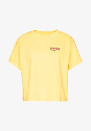GRAPHIC VARSITY TEE - T-shirt print - yellow