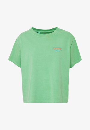 GRAPHIC VARSITY TEE - Printtipaita - absinthe green