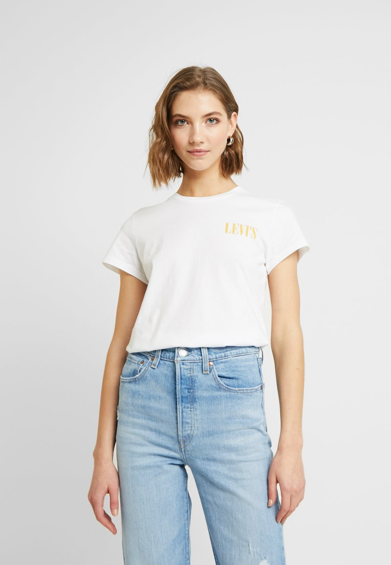 Levi's® - THE PERFECT TEE - Print T-shirt - serif chest hit white