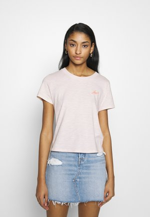 GRAPHIC SURF TEE - T-shirt z nadrukiem - script peach blush
