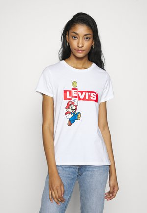 Levi's® x Super Mario - T-shirt z nadrukiem - white