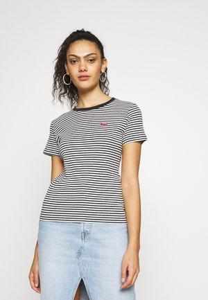BABY TEE - T-shirts med print - aya stripe caviar