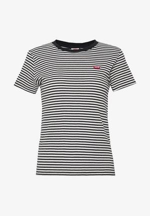 BABY TEE - T-shirt basic - aya stripe caviar