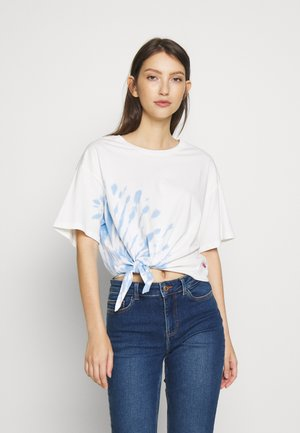 LUNA KNOT TEE - T-shirts med print - large tie dye - marina