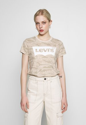 THE PERFECT TEE - T-shirt med print - beige