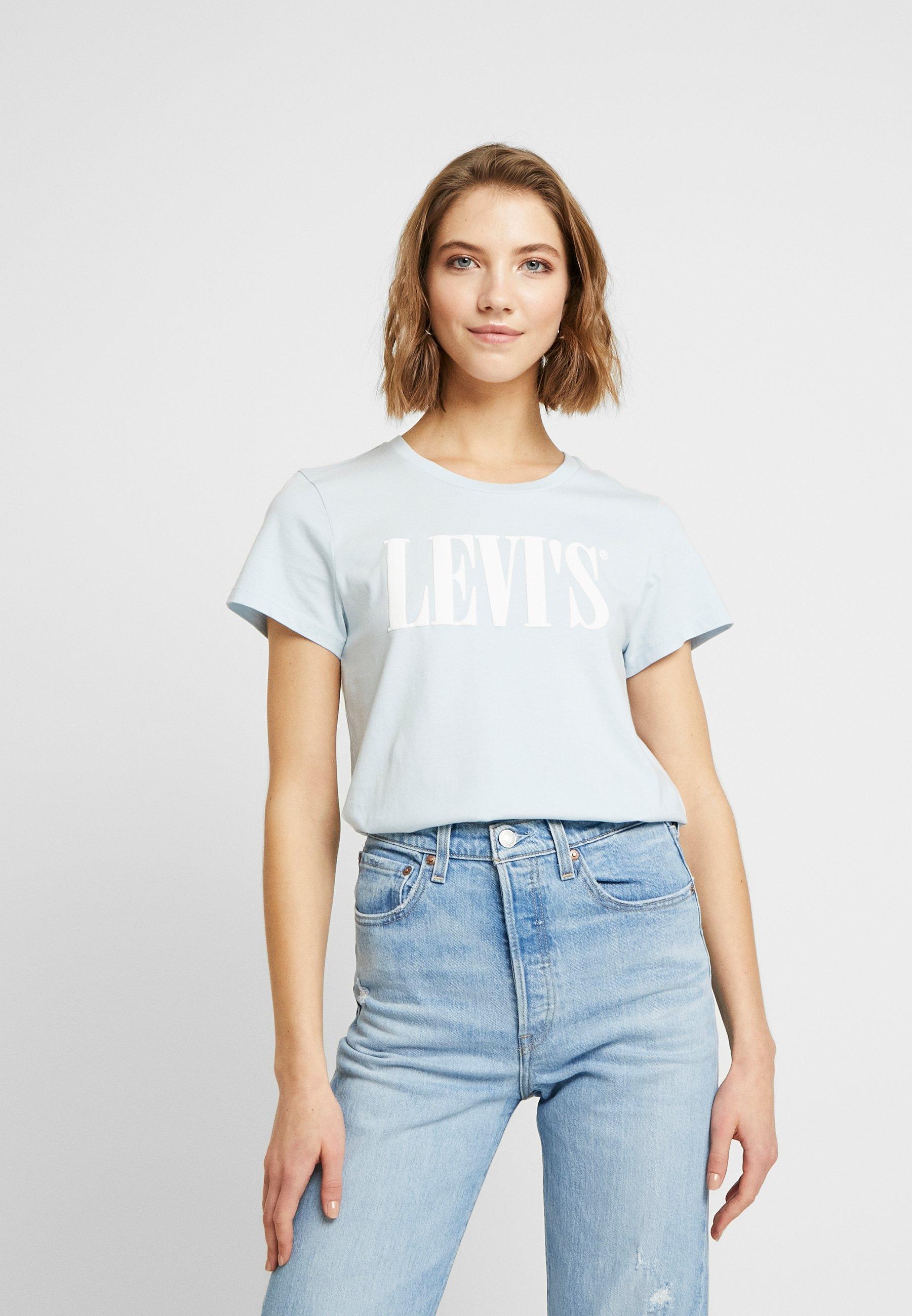 Levi's® THE PERFECT TEE - T-shirt z nadrukiem - baby blue