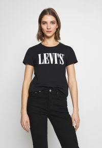 Levi's® - THE PERFECT TEE - Triko s potiskem - caviar - 0