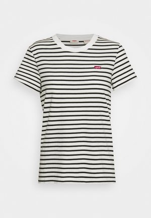 PERFECT TEE - T-shirts med print - white/black