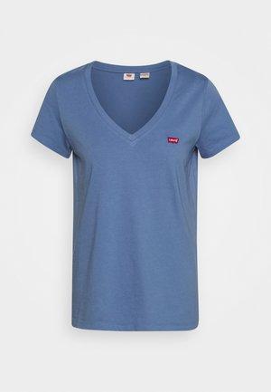 PERFECT V NECK - Printtipaita - colony blue