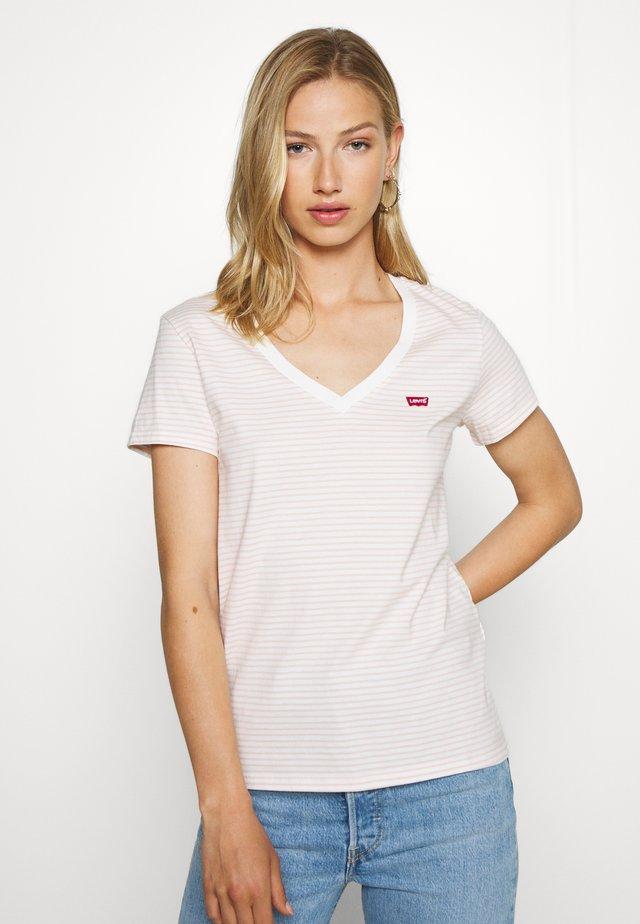 PERFECT VNECK - T-shirt print - annalise/sepia rose