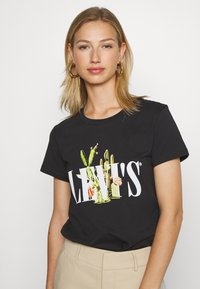 Levi's® - THE PERFECT TEE - T-shirts med print - black - 0