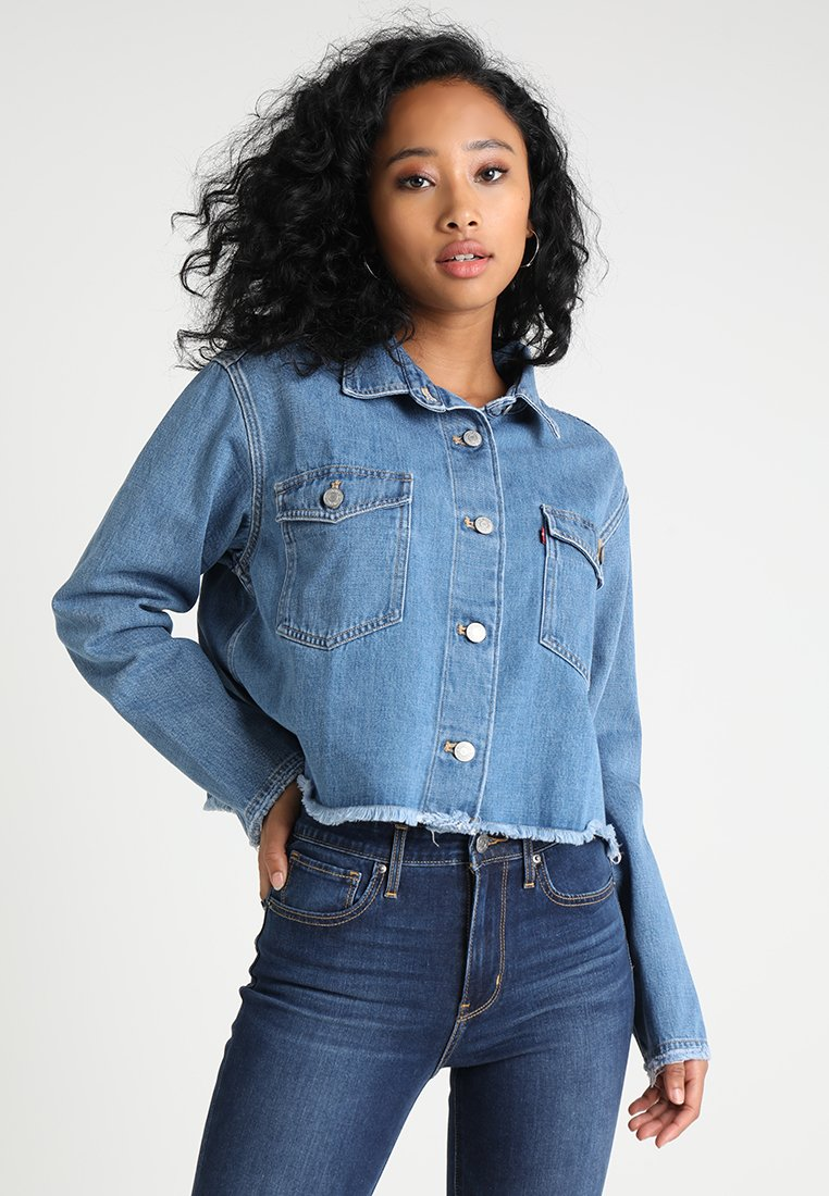 Levi's® - RANIA CROPPED - Button-down blouse - med authentic stonewash