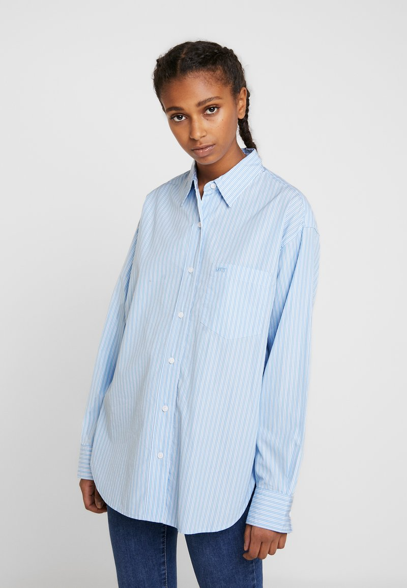 Levi's® - THE DAD SHIRT POCKET - Camicia - adelia stripe powder blue