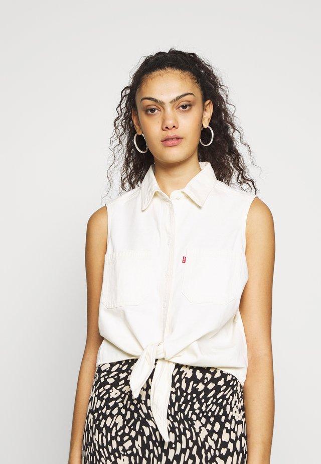 ALINA TIE SHIRT - Camisa - icy ecru