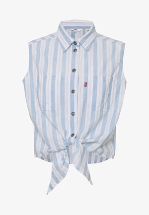 ALINA TIE SHIRT - Button-down blouse - light blue/white