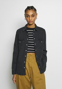 Levi's® - ESSENTIAL WESTERN - Button-down blouse - black sheep - 0