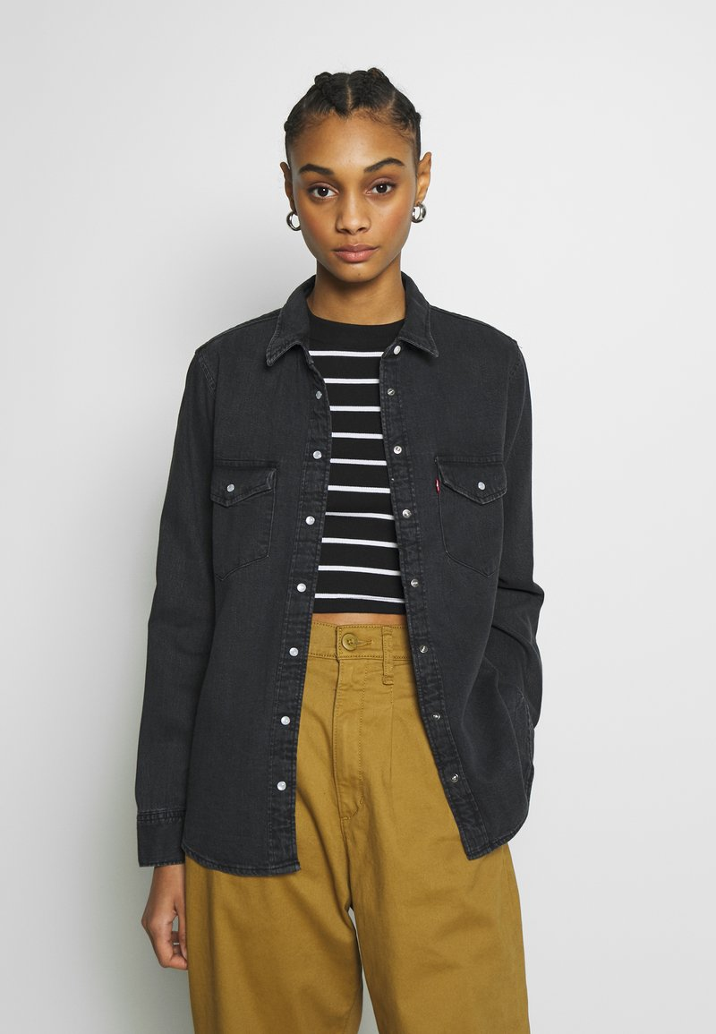 Levi's® - ESSENTIAL WESTERN - Button-down blouse - black sheep