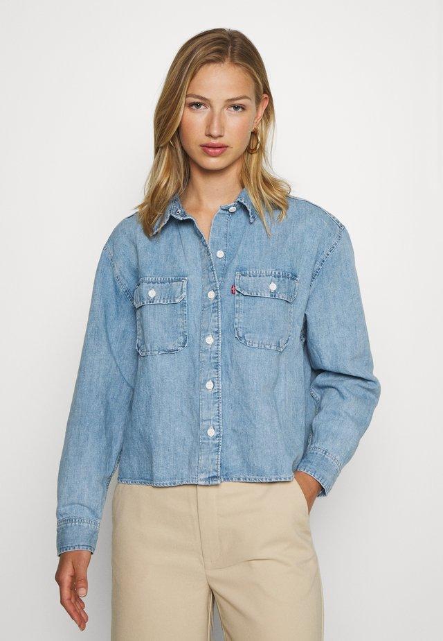 OLSEN UTILITY - Button-down blouse - loosey goosey