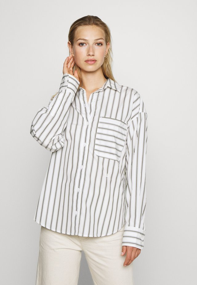 THE RELAXED - Button-down blouse - sunnyvale olive night