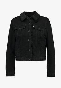 Levi's® - ORIGINAL SHERPA TRUCKER - Jeansjacke - forever black - 4