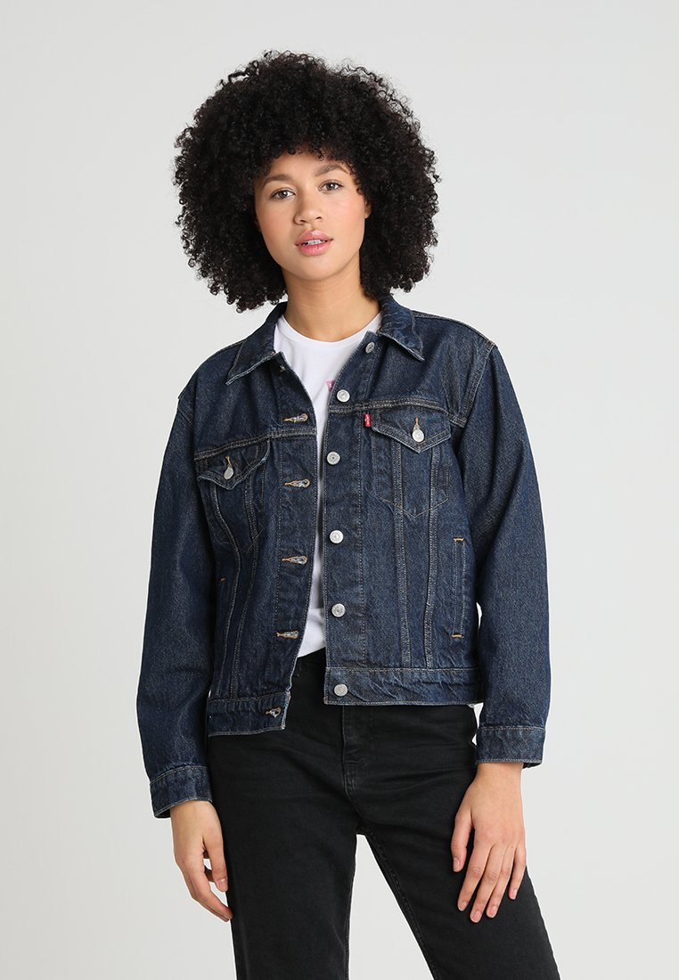 Levi's® - EX BOYFRIEND TRUCKER - Denim jacket - sports day