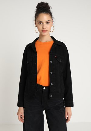 EX BOYFRIEND TRUCKER - Denim jacket - forever black