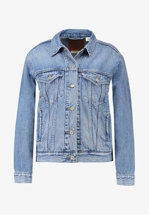 EX BOYFRIEND TRUCKER - Giacca di jeans - soft as butter mid