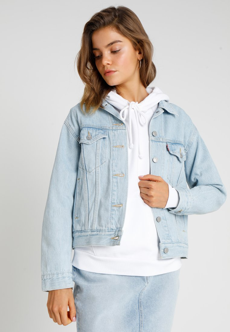 Levi's® - EX BOYFRIEND TRUCKER - Denim jacket - soft as butter light