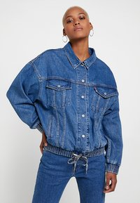 Levi's® - DAD SPORT TRUCKER - Giacca di jeans - dark-blue denim - 0