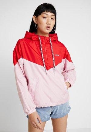 KIMORA JACKET - Větrovka - raglan pink lady/brilliant red