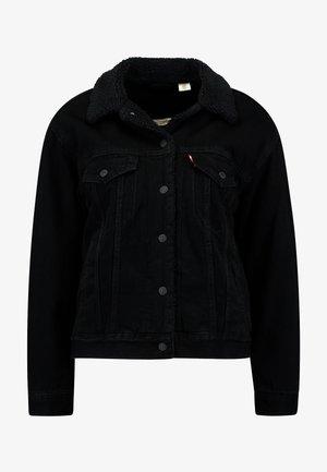 SHERPA TRUCKER - Veste en jean - forever black