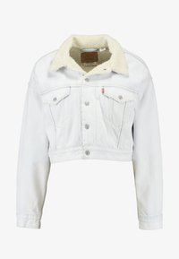 Levi's® - CROP DAD SHERPA TRUCKER - Jeansjakke - cold as ice - 4