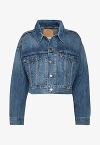 Levi's® - CROP DAD TRUCKER - Jeansjakke - blue denim - 4