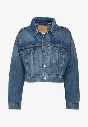 CROP DAD TRUCKER - Denim jacket - blue denim
