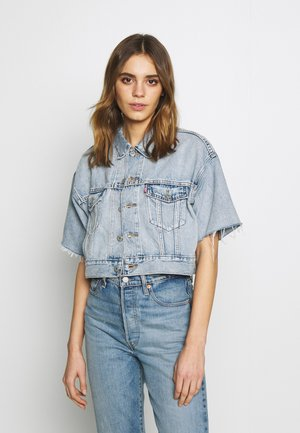 CROP DAD TRUCKER - Denim jacket - jeffrey