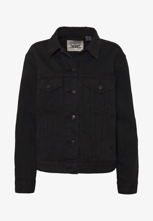 WELLTHREAD TRUCKER - Veste en jean - breaking wave black