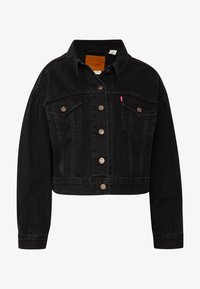 Levi's® - PLEAT SLEEVE TRUCKER - Jeansjakke - black denim - 4