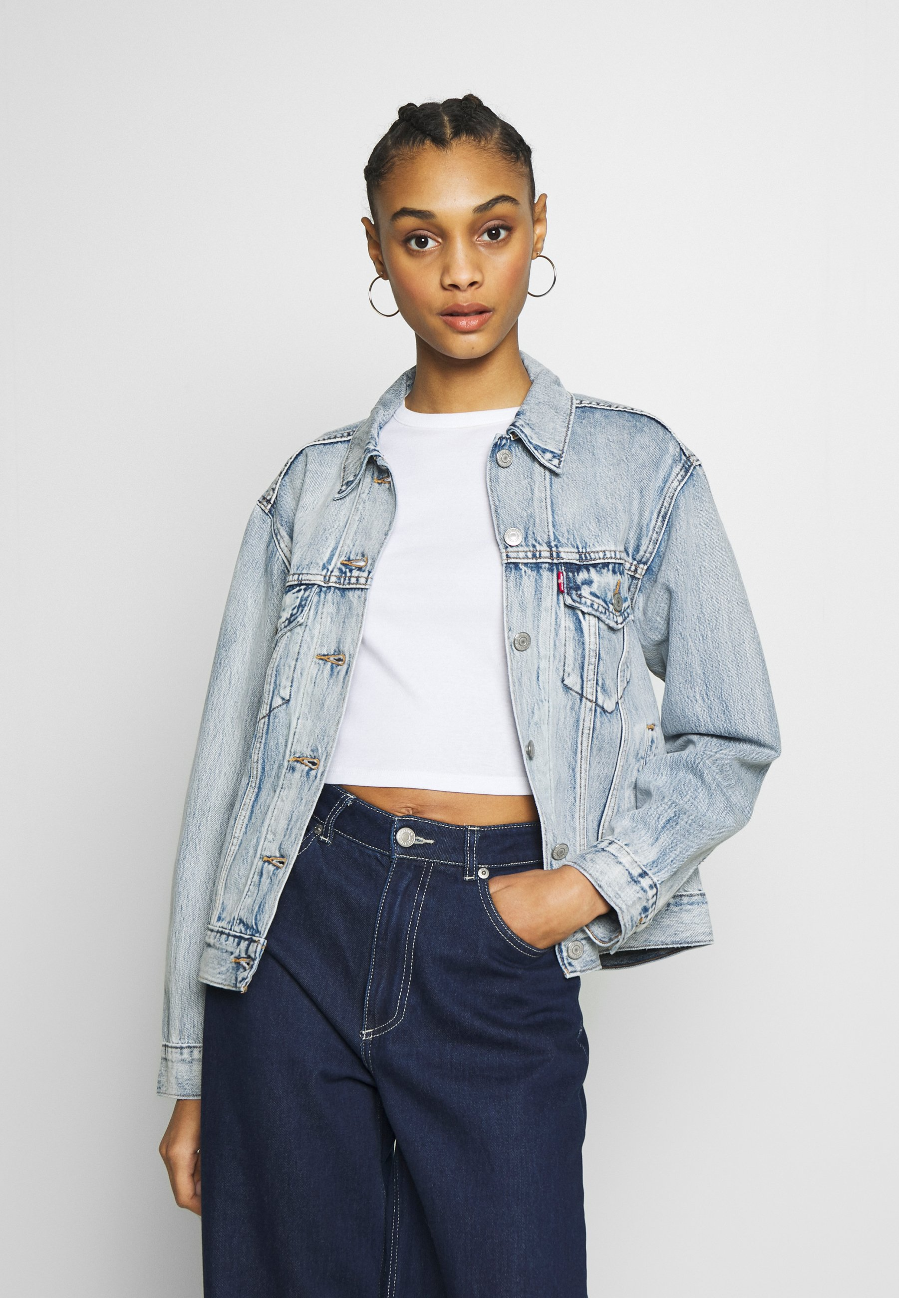 Levi's® EX-BOYFRIEND TRUCKER - Kurtka jeansowa - extra-ordinary