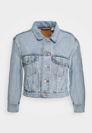 LOOSE SLEEVE TRUCKER - Džínová bunda - light blue denim
