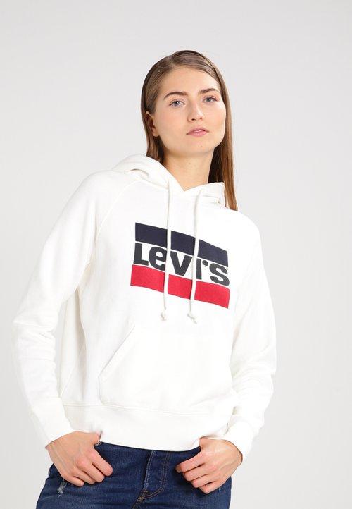Levi's® GRAPHIC SPORT - Bluza z kapturem - marshmallow Odzież Damska QXKV-LE4 oferta