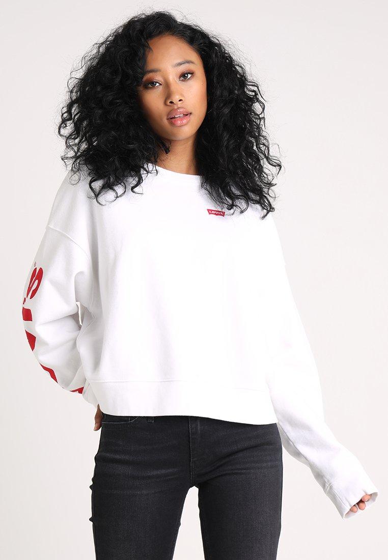 Levi's® - GRAPHIC WEEKEND CREW PEANUTS - Sweatshirt - street crew white