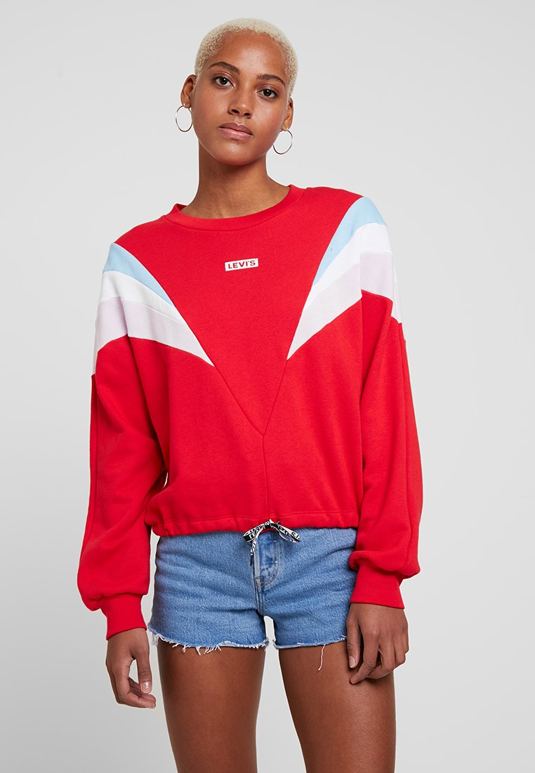 Levi's® - FLORENCE CREW - Sweater - baby tab crew brilliant red