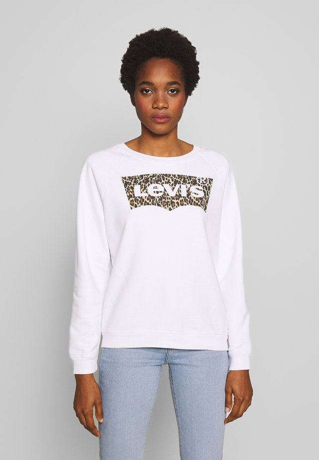 RELAXED GRAPHIC CREW - Sweater - white